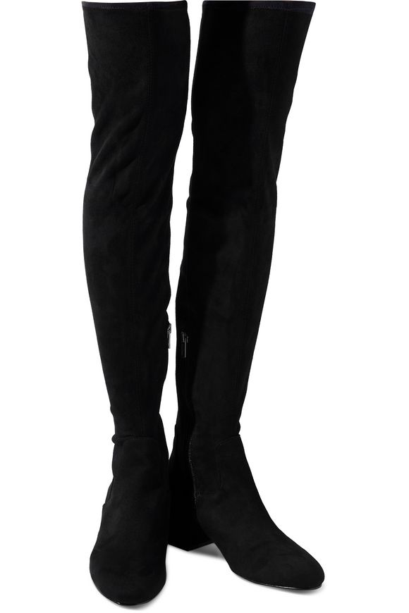 0d5aa2eef7ac Diva faux suede over-the-knee boots