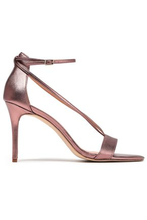 HALSTON HERITAGE Evie metallic leather sandals
