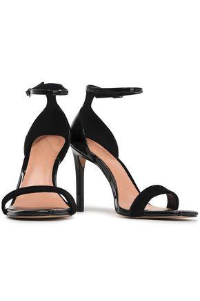 HALSTON HERITAGE Myra velvet and patent-leather sandals