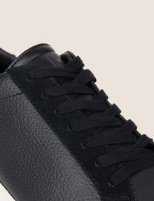 ARMANI EXCHANGE LEATHER AND SUEDE LOW-TOP SNEAKER Sneakers [*** pickupInStoreShippingNotGuaranteed_info ***] a