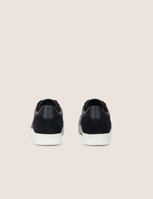 ARMANI EXCHANGE LEATHER AND SUEDE LOW-TOP SNEAKER Sneakers [*** pickupInStoreShippingNotGuaranteed_info ***] d