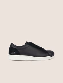 ARMANI EXCHANGE LEATHER AND SUEDE LOW-TOP SNEAKER Sneakers [*** pickupInStoreShippingNotGuaranteed_info ***] f