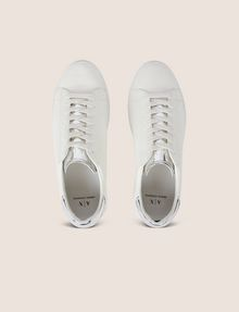 ARMANI EXCHANGE METALLIC DETAIL LOW-TOP SNEAKER Sneakers [*** pickupInStoreShippingNotGuaranteed_info ***] e