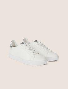 ARMANI EXCHANGE METALLIC DETAIL LOW-TOP SNEAKER Sneakers [*** pickupInStoreShippingNotGuaranteed_info ***] r