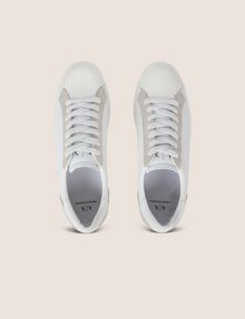 ARMANI EXCHANGE LEATHER AND SUEDE LOW-TOP SNEAKER Sneakers [*** pickupInStoreShippingNotGuaranteed_info ***] e