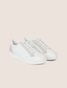ARMANI EXCHANGE LEATHER AND SUEDE LOW-TOP SNEAKER Sneakers [*** pickupInStoreShippingNotGuaranteed_info ***] r