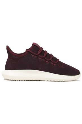 ADIDAS ORIGINALS Tubular Shadow leather-trimmed mélange stretch-knit sneakers