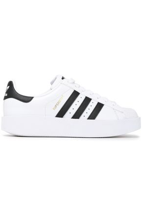 ADIDAS ORIGINALS Leather and rubber sneakers