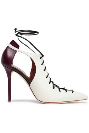 MALONE SOULIERS Montana two-tone lace-up leather pumps