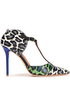 MALONE SOULIERS Leopard-print elaphe pumps