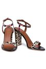 MALONE SOULIERS Ladida printed snake-skin sandals