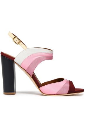 MALONE SOULIERS Color-block canvas sandals