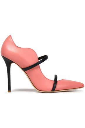 Maureen Two Tone Leather Pumps by Malone Souliers