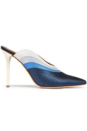 MALONE SOULIERS Color-block canvas mules
