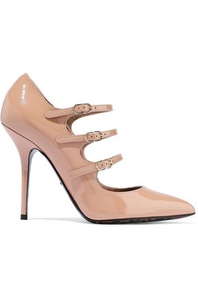 DOLCE & GABBANA Buckled patent-leather pumps