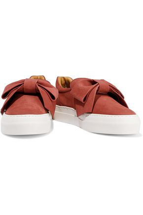 BUSCEMI Embellished suede slip-on sneakers