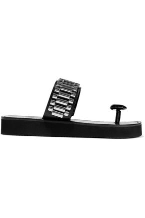 3.1 PHILLIP LIM Chain-embellished leather slides