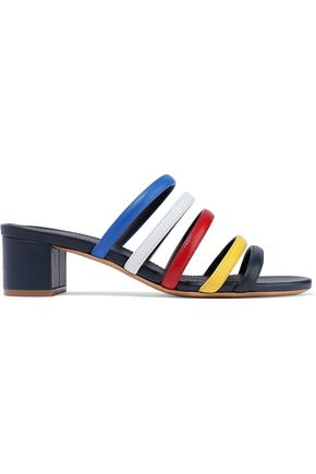 MANSUR GAVRIEL Color-block leather mules