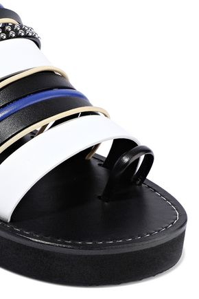 3.1 PHILLIP LIM Studded leather and suede slides