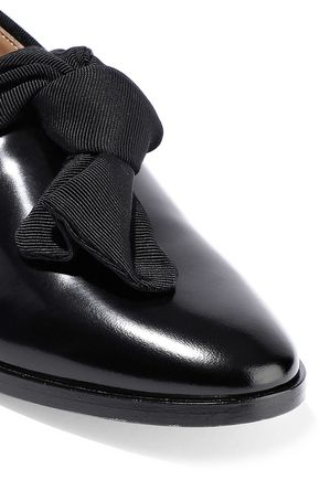 MANSUR GAVRIEL Bow-embellished patent-leather brogues
