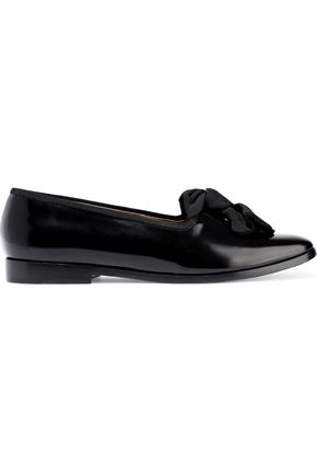 MANSUR GAVRIEL Bow-embellished patent-leather brogues