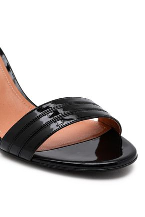 MARCO DE VINCENZO Crystal-embellished faux patent-leather sandals