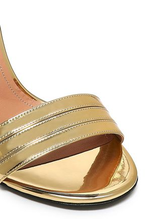 MARCO DE VINCENZO Embellished metallic leather sandals