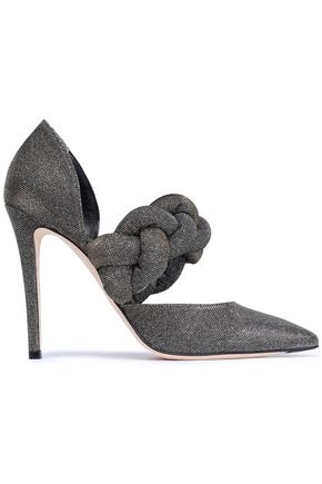 MARCO DE VINCENZO Braided metallic knitted pumps