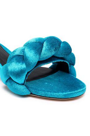 MARCO DE VINCENZO Velvet slippers