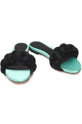 MARCO DE VINCENZO Braided satin slides