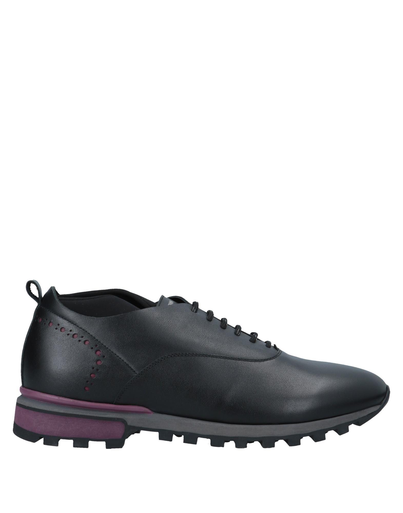《送料無料》ALBERTO GUARDIANI メンズ スニーカー&テニスシューズ(ローカット) ブラック 42 革 / 紡績繊維
