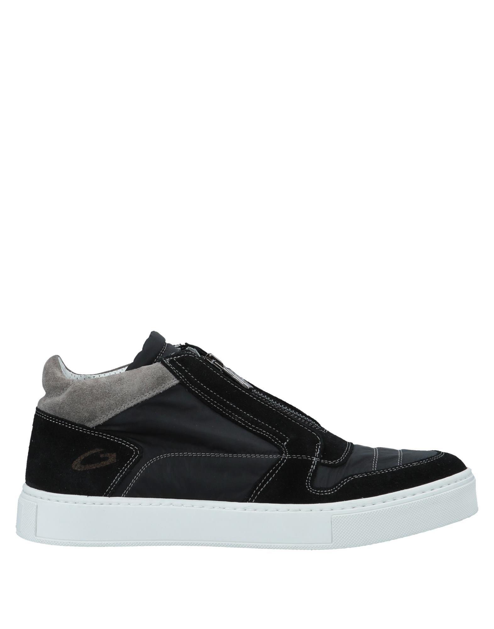 《送料無料》ALBERTO GUARDIANI メンズ スニーカー&テニスシューズ(ハイカット) ブラック 41 紡績繊維 / 革