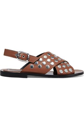 McQ Alexander McQueen Sundance studded leather slingback sandals