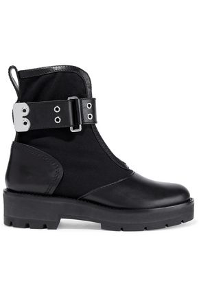 3.1 PHILLIP LIM Leather-paneled twill ankle boots
