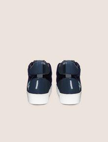 ARMANI EXCHANGE VELVET AND PATENT FINISH HIGH-TOP SNEAKER Sneaker [*** pickupInStoreShipping_info ***] d