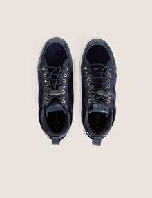 ARMANI EXCHANGE VELVET AND PATENT FINISH HIGH-TOP SNEAKER Sneaker [*** pickupInStoreShipping_info ***] e