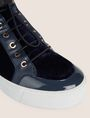 ARMANI EXCHANGE VELVET AND PATENT FINISH HIGH-TOP SNEAKER Sneaker [*** pickupInStoreShipping_info ***] a