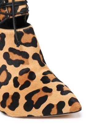 CASADEI Zimbabwe leopard-print calf hair ankle boots