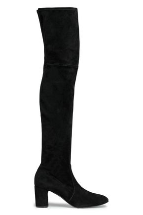 CASADEI Stretch-suede thigh boots