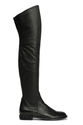 CASADEI Stretch-leather thigh boots