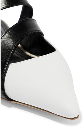 J.W.ANDERSON Two-tone leather slippers