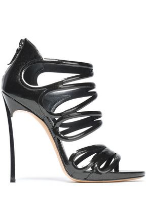CASADEI Metallic patent-leather sandals