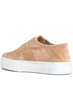 VINCE. Copley suede platform sneakers