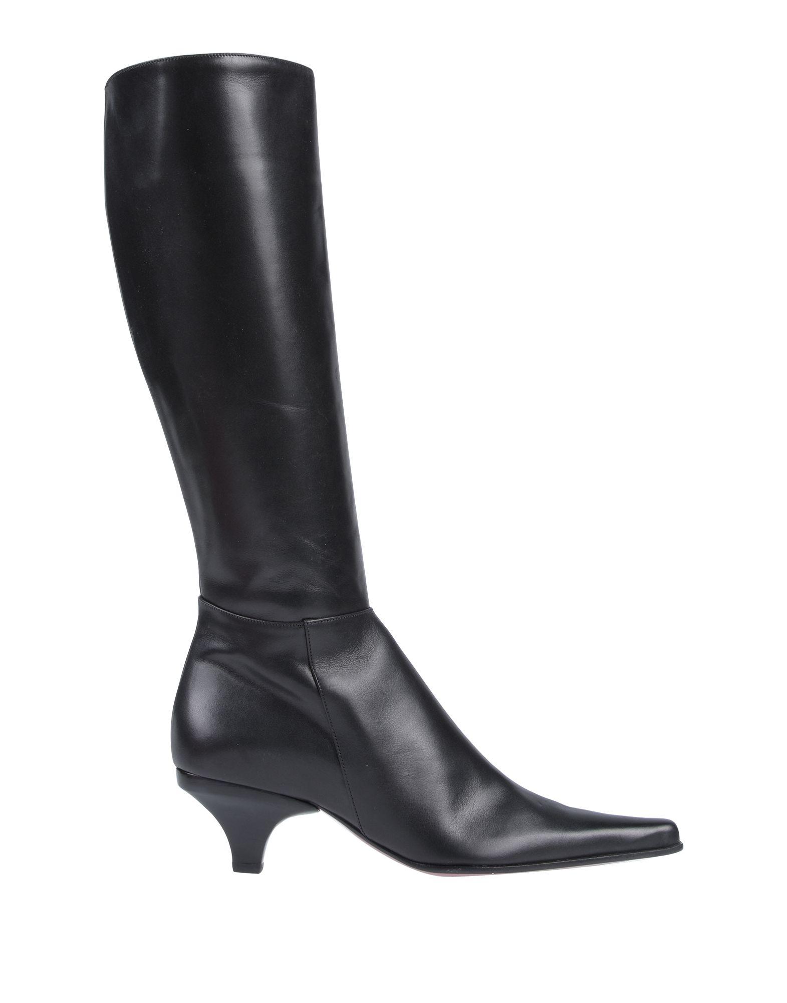 《送料無料》MISS ROSSI レディース ブーツ ブラック 35 牛革(カーフ)