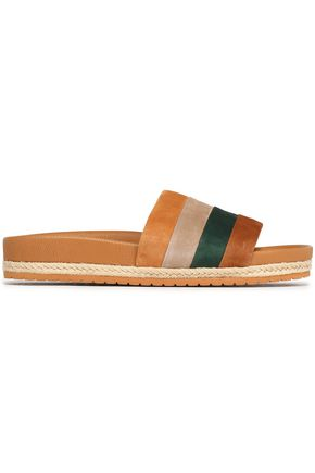 VINCE. Striped suede slides