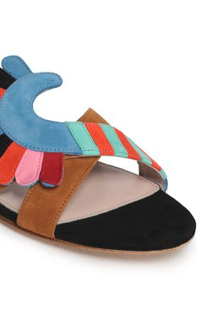 PAULA CADEMARTORI Embellished suede sandals