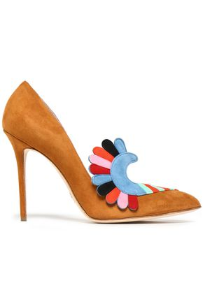 PAULA CADEMARTORI Embellished suede pumps