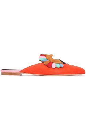 PAULA CADEMARTORI Embellished suede slippers