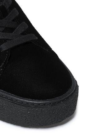 VINCE. Neela velvet platform sneakers