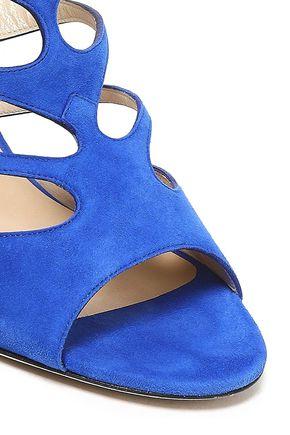 JIMMY CHOO Ren 90 cutout suede sandals